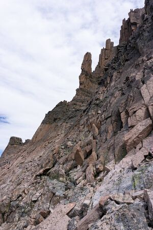 Beautiful stone towers out west in Colorado Alpine Banco de Imagens
