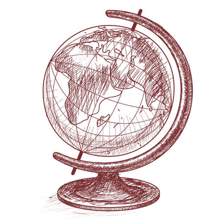 The globe. Design for schools and educational institutions.