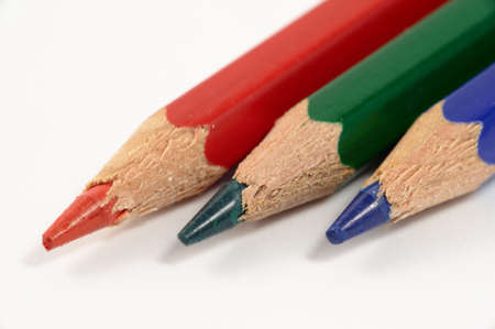Red green and blue pencil (RGB) photo