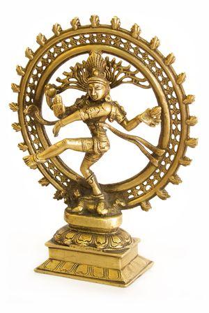Hindu god Shiva from bronze on a white background photo