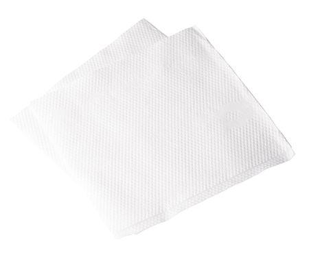 servilleta de papel: Servilleta de papel sobre fondo blanco