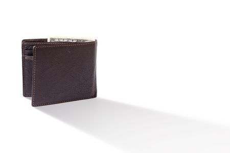 change purse: Leather wallet with money