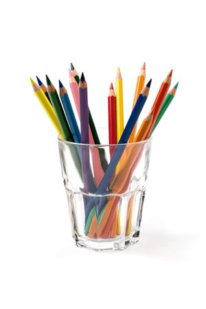 Pencils in a glass photo