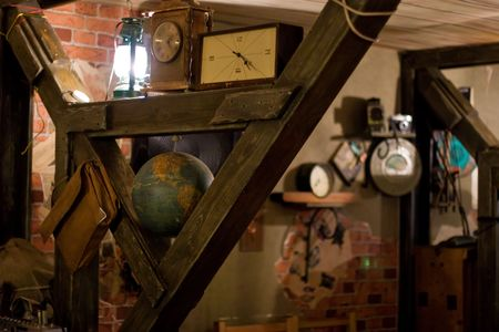 View of an attic filled with old objects stored there. Stock Photo - 6450349