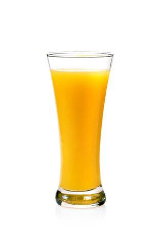 A Glass of orange Juice, Isolated On White background photo