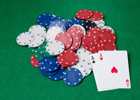 texas holdem: pocket aces in texas holdem card game