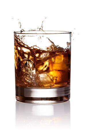 hard liquor: Whiskey splash.