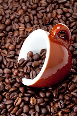 coffeebeans: Fresh Coffee With Coffeebeans Stock Photo