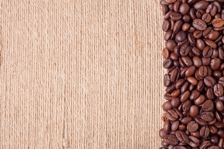 Open frame made of roasted coffee beans photo