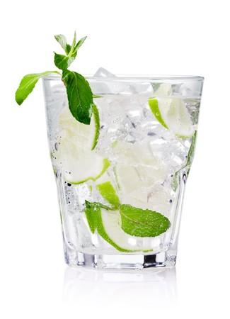 cold fresh lemonade. Isolated on white background