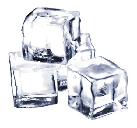 ice blocks: ice cubes isolated on white