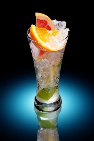 cold fresh citrus fruit drink photo