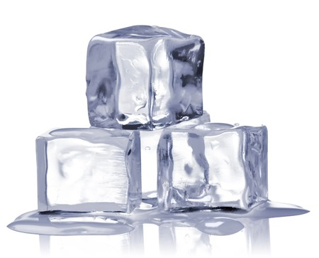 ice cubes isolated on white photo