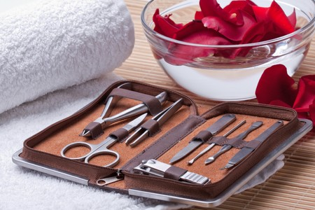 Tools of a manicure set photo