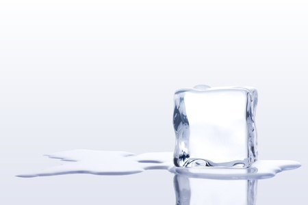 melt: ice cubes on a White background Stock Photo