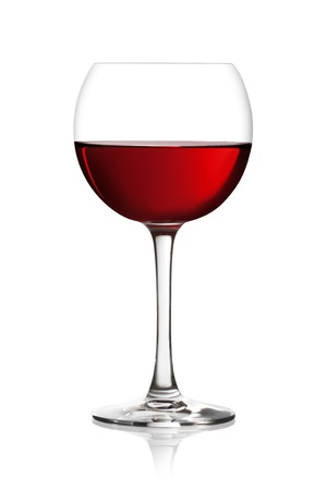 syrah: Glass of red wine on a white background and with soft shadow. The file includes a clipping path.