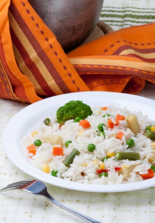 peas: Rice with vegetables