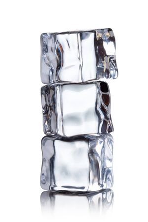 chilled: ice cubes on a white background