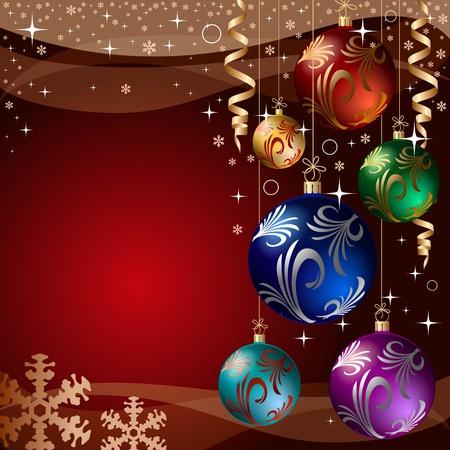 new year's: xmas bauble. christmas decoration.  Illustration