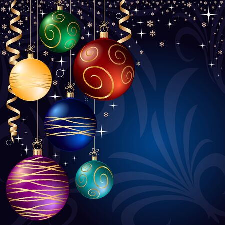 bauble: xmas bauble. christmas decoration. Illustration