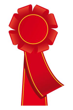 Red bages and ribbons.   Vector
