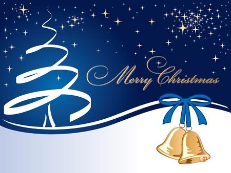 A christmas tree  greeting card.  Vector