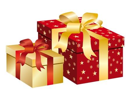Christmas box.  Vector