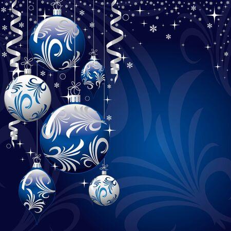 blue xmas greeting card Vector