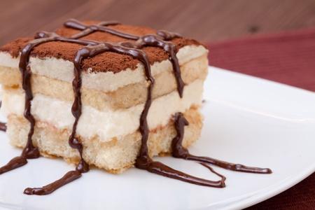 Tiramisu Dessert served on a plate photo