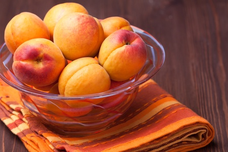 still life: bowl of fresh and sweet apricots