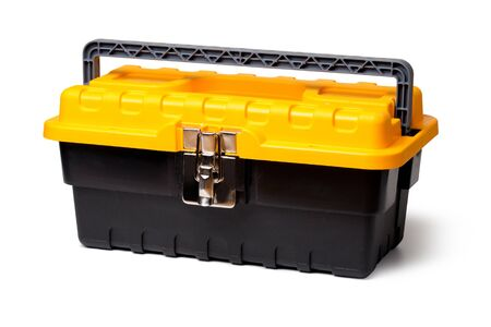 Tool Box  isolated on white Stock Photo - 12115666