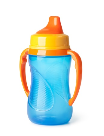 baby feeding: Baby bottle on a white background