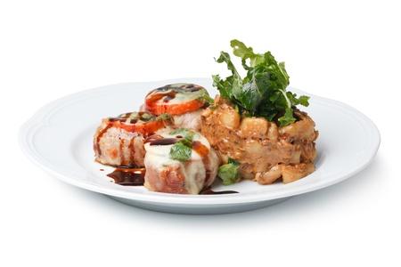 dinner food: Pork Tenderloin Medallions with sauce