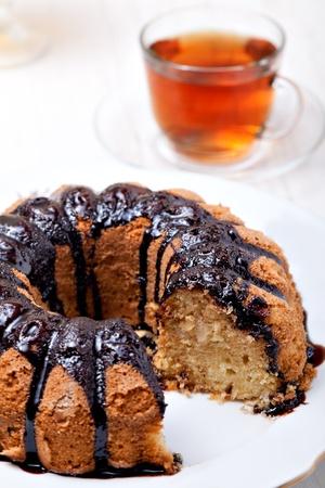 truncated: Homemade Ring Cake on a plate