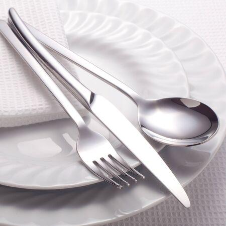 Set of kitchen object  on a white background. photo