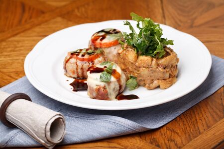 Pork Tenderloin Medallions with sauce photo