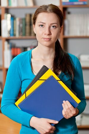 girl in library Stock Photo - 13944030
