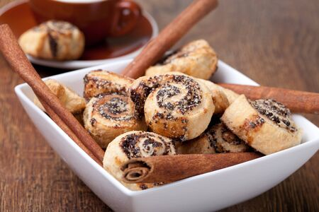 Pinwheel cookies with cinnamon photo