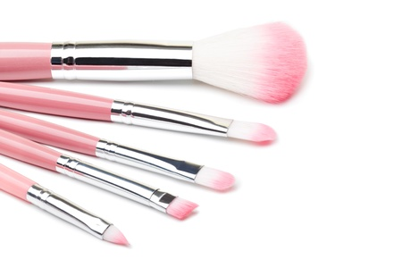 Makeup Brushes on a white Stock Photo - 13943849