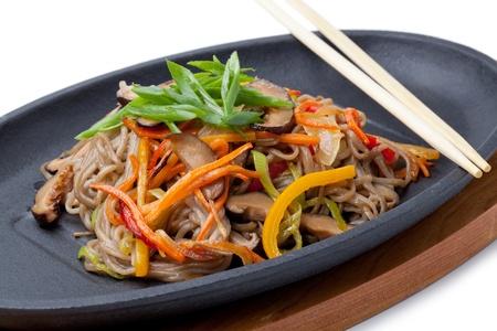 shiitake: Yasai Soba,  japanese cuisine