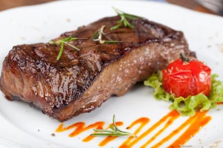 steak beef: Grilled sirloin steak