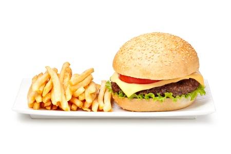 hamburger isoliert auf weißem Hintergrund