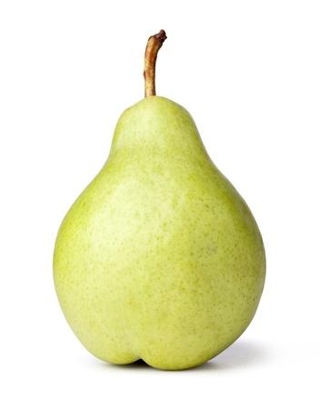梨: 白い背景の上をクローズ アップ梨