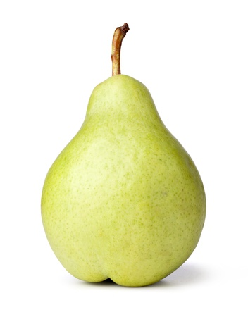 Close up Pear on a white background Stock Photo