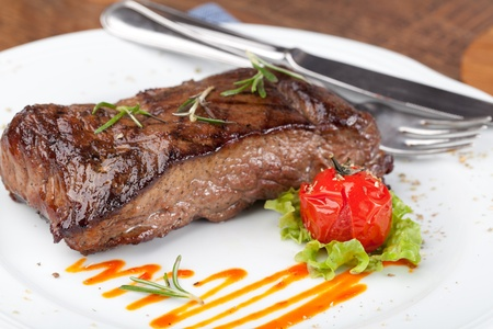 Grilled sirloin steak photo