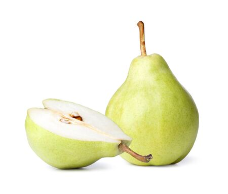williams: Close up Pear on a white background Stock Photo