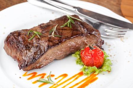 Grilled sirloin steak photo