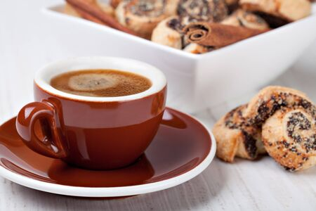 Pinwheel cookies and coffee cup photo