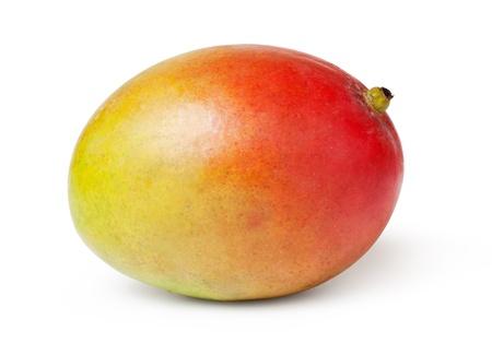 mango fruta: enteros frutos de mango en el fondo blanco