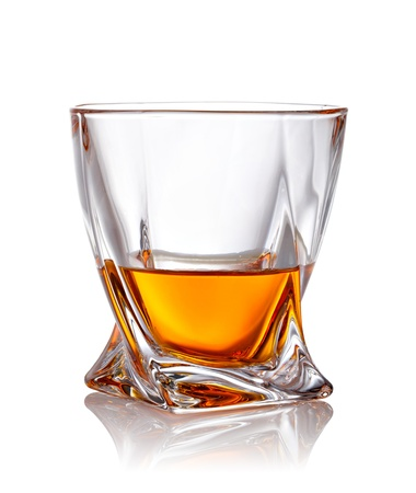 whiskey glass: Glass of scotch whiskey with clipping path Stock Photo